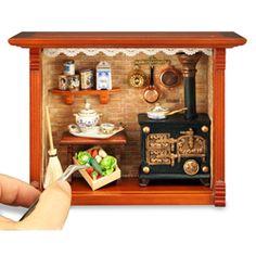 Antique Kitchen Shadow Box