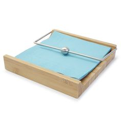 Bamboo Napkin Holder with Weight