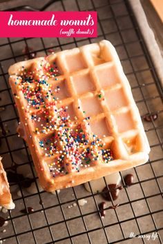 Oh my heavens. Where have these been all my life! How to make homemade wonuts (Waffle Donuts)