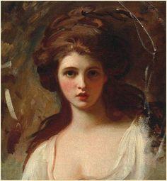 George Romney - Lady Hamilton as Circe (1782)