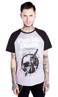 Psychic Death Raglan T-shirt #disturbiaclothing disturbia alien goth occult grunge alternative