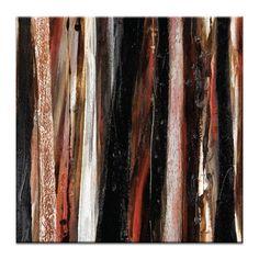 Katherine Boland Treeline 2 Framed Canvas Print in Red