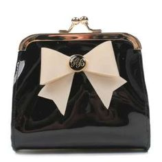 Ted Baker Womens Geenee Black Bow Purse