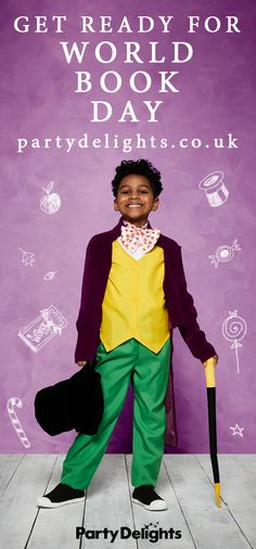 If your child is dressing up for World Book Day 2018, check out the huge range of World Book Day costumes at partydelights.co.uk! From Roald Dahl costumes to David Walliams, Harry Potter and the Gruffalo, head over to our website for inspiration! Book Characters Dress Up, Character Dress Up, Book Character Costumes, Roald Dahl Stories, Roald Dahl Day, World Book Day Costumes, Book Week Costume, Roald Dahl Costumes Kids, Dress Up Costumes
