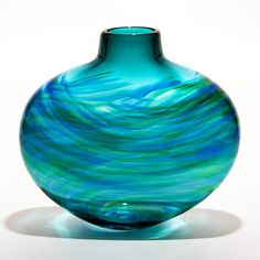 Ocean Blue Art Glass Vase Courtesy of InStyle-Decor.com Beverly Hills Inspiring & supporting Hollywood interior design professionals and fans, sharing beautiful luxe home decor inspirations, trending 1st in Hollywood Repin, Share & Enjoy