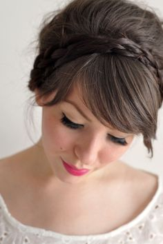 braided headband hairstyles - Google Search