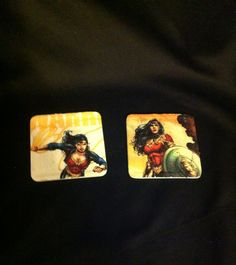 Wonder Woman comic book coasters  by EJcrafting on Etsy, $12.00