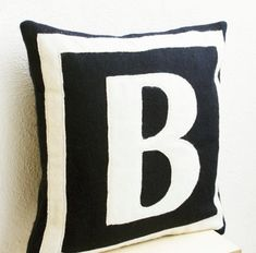Monogram Pillows Customized Monogram throw pillow Felt pillow cover by AmoreBeaute Monogram Pillows, Personalized Pillows, Gold Pillows, Handmade Pillows, Custom Pillows, Decorative Throw Pillows, Letter Pillow, Personalized Gifts