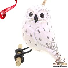 New listing! Hand-carved wooden owl painted decorative wall carvings ZR10048 #ZL #Ornament