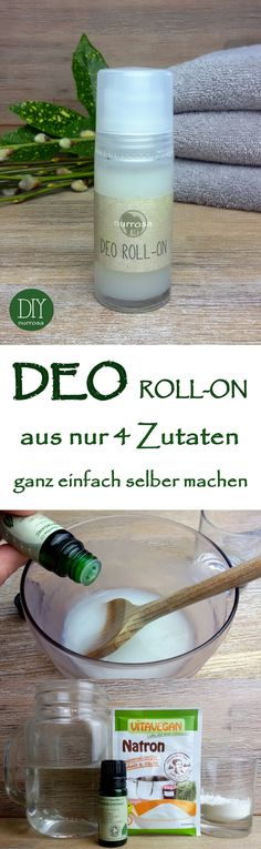 DEO ROLL-ON ganz einfach selber machen, ohne Aluminium und Alkohol Die Anleitung. Simply make DEO ROLL-ON yourself, without aluminum and alcohol. I have already introduced you to the instructions fo Diy Deodorant, Deodorant Recipes, Natural Deodorant, Shampooing Diy, Perfume Vintage, Belleza Diy, Diy Beauté, Make Up Tricks, Make Up Tutorial