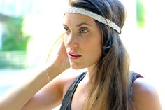 #Headband Cheveux blanc pour les #mariages
