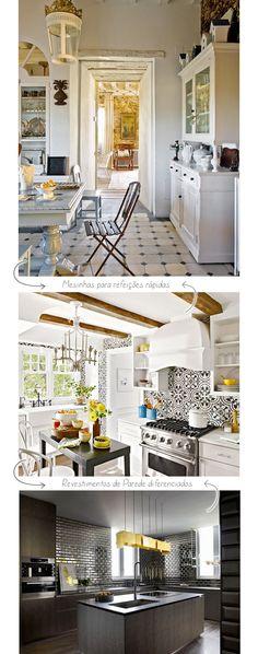 Cozinhas - Ideias para decorar.