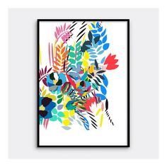 brighten interior walls with this bold abstract print. Perfect for bringing a splash of colour to any contemporary space.Archival quality colour Giclée printEdition of 200 Individually …