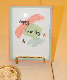 Endless Birthdays, Work of Art, Clean and Simple cards, Stampin' UP! One of my August card class samples!