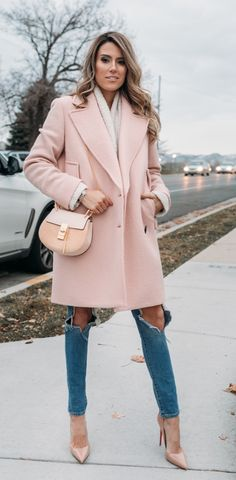 blush cape coat