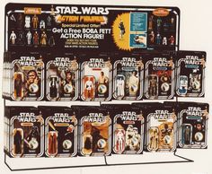Vintage STAR WARS Action Figure Display ca. MAIL AWAY For the ORIGINAL Boba FETT Action Figure in 77' !!! (What Dreams are made of!)