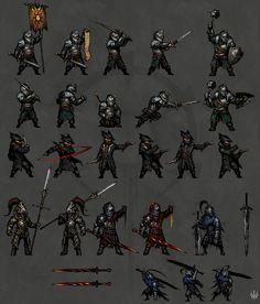 Dark Fantasy, Gothic Fantasy Art, Dark Souls 3, Sprites, Pixel Art, Bloodborne Art, Darkest Dungeon, Dragon Slayer, Soul Art