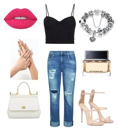 """""""lovvvv ✨💕"""" by larissa-coimbra on Polyvore featuring moda, Alexander Wang, 7 For All Mankind, Givenchy, Lime Crime e Dolce&Gabbana"""