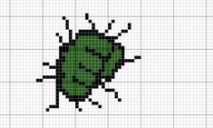Gráficos Cross Stitching, Cross Stitch Embroidery, Cross Stitch Patterns, Small Cross Stitch, Cross Stitch Baby, Logo Hulk, Stitch Games, Modele Pixel Art, Marvel Logo