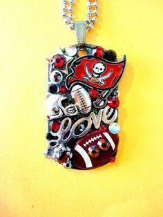 Tampa Bay Buccaneers Dog Tag Pendant Number 954 by BradosBling, $39.99