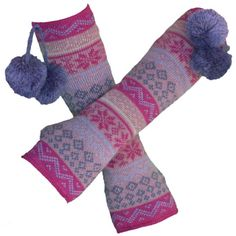 Fairisle Arm Warmers in Lavender from Blossom Boutique by Evergreen Enterprises (www.myevergreen.com)