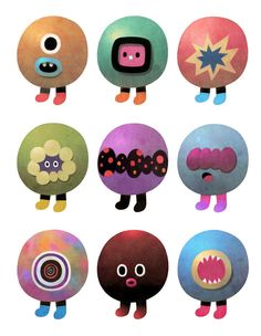 Character Design by Dric , via Behance