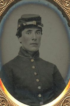 1850 60s Ruby Glass Ambrotype Image of A Civil War or Earlier U s Soldier | eBay