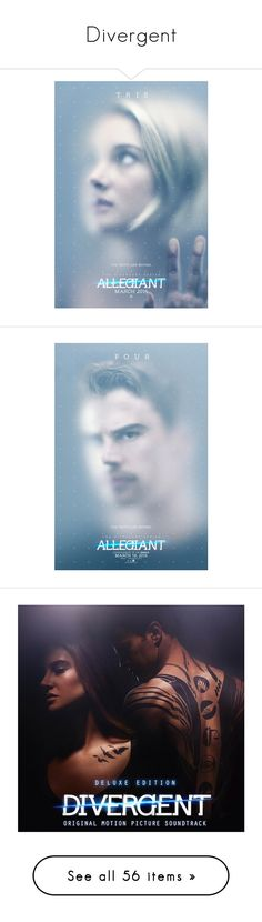 """""""Divergent"""" by anjinha1267 on Polyvore featuring divergent, movies, home, home decor, wall art, movie posters, movie wall art, pictures, fandoms e posters"""