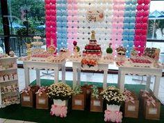 mesas de doces arrumadas