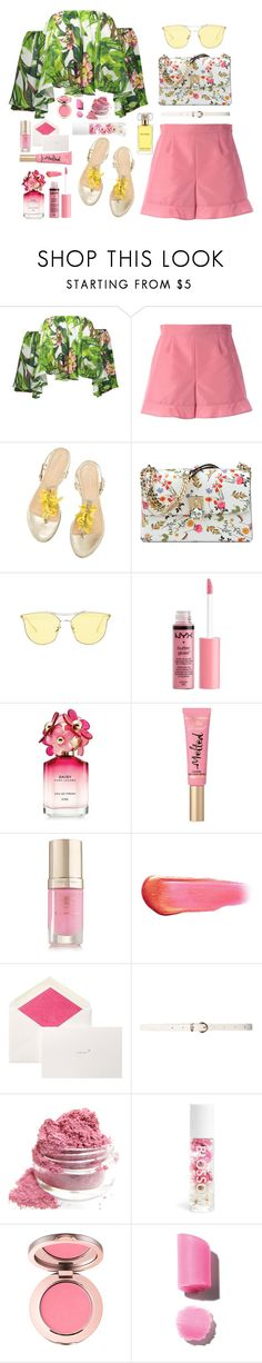 """My perspective"" by meowingcat ❤ liked on Polyvore featuring RED Valentino, Nine West, Charlotte Russe, Marc Jacobs, Too Faced Cosmetics, Margaret Dabbs, e.l.f., Smythson, Dorothy Perkins and Blossom"