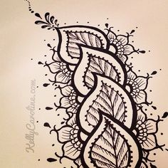 Henna style leaves - /pamelascraft/zenadoodle/  over 5,000