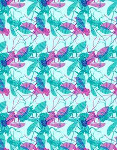 Complex bee pattern Art Print