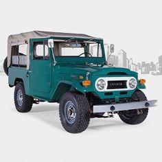1972 Toyota Land Cruiser FJ43 Rustic Green #fjcompany #fjrestoration #toyota…