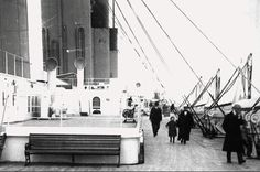 Titanic's uppermost boat deck, for 1st class passengers only.