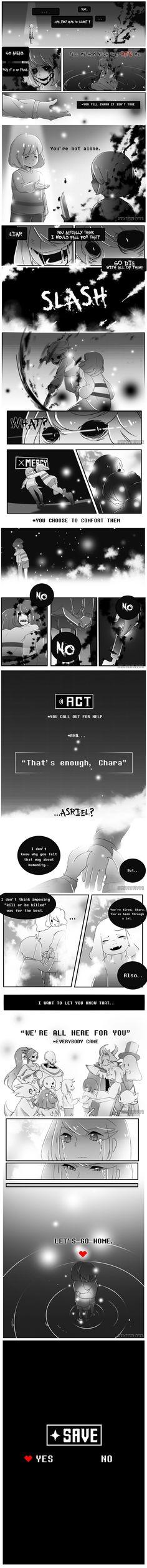 Undertale Comic : SAVE CHARA by maricaripan.deviantart.com on @DeviantArt