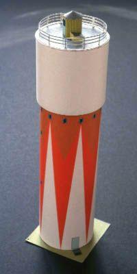 BILDRUMS KLIPPARK PAPER CUT OUT MODELS Nr 14 Slite vattentorn (Slite water tower)  skala 1:160