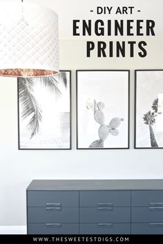 How to create inexpensive DIY large wall art using Engineer Prints. Where to find amazing digital photos, how to print, and the best frames to use. Click through for tutorial!