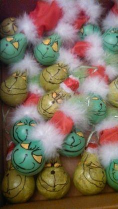 Grinch lightbulb ornaments