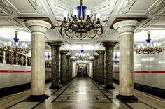 St. Petersburg, Russia Metro   photo taken inside the Avtovo Metro Station in St. Petersburg, Russia ...