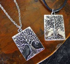 Tree of Life Necklace, Unisex Tree of Life Jewelry, Tree of Life Chain Necklace Antique Silver Colour - Choose Style and Chain Length by RegalisJewelryDesign on Etsy