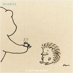hedgehog coffe