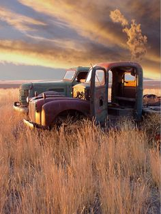 Enhanced Digital Photography of abandoned cars, trucks, houses and grain elevators. Hot Rod Pickup, Old Pickup Trucks, Farm Trucks, Chevy Trucks, Abandoned Cars, Abandoned Places, Abandoned Vehicles, Rusty Cars, Old Farm Houses