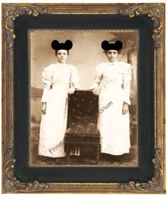 Mouse Ears Victorian Print 8 x 10  Victorian Girls by fringepop, $10.00