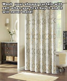 Stop your Shower Curtain from Molding - #Mold, #Shower, #ShowerCurtain