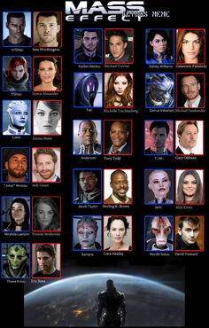 Mass Effect Actors meme by postcardsandroses.deviantart.com on @deviantART some yes others no