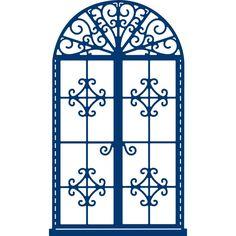 Tattered Lace Decorative Window Die 7.5 cm x 12.9 cm