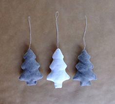 Ornements arbre de Noël laine et coton by ipamea - 8€ laine et coton décoration de Noël Etsy