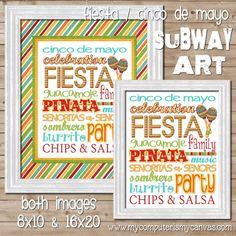 Fiesta / Cinco de Mayo Subway Art