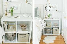 Transform your bedroom from drab to fab in as little as a weekend with these brilliant IKEA storage hacks for small bedrooms. Cheap & elegant ideas. Ikea Office Storage, Ikea Storage Bed, Baby Room Storage, Ikea Storage Cabinets, Tiny House Storage, Storage Hacks, Storage Units, Storage Ideas, Ikea Storage Solutions