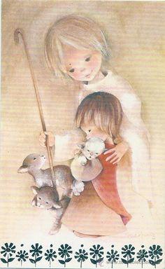 Catholic Kids, Roman Catholic, Holly Hobbie, Prayer Cards, Religious Art, Lent, Big Eyes, Vintage Postcards, Photos